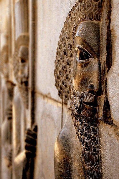 Bas-relief Figure, Apadana Staircase, Persepolis, Iran