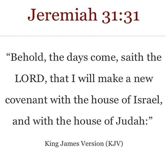 New Covenant with Israel & Judah