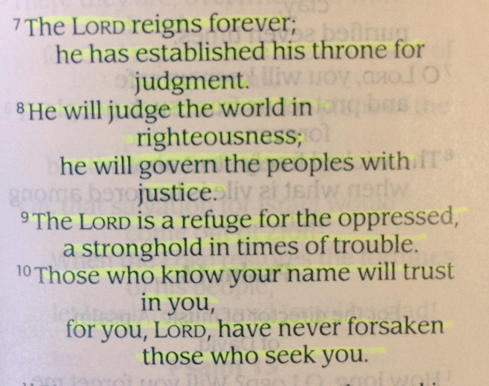 Psalm 9:7-10