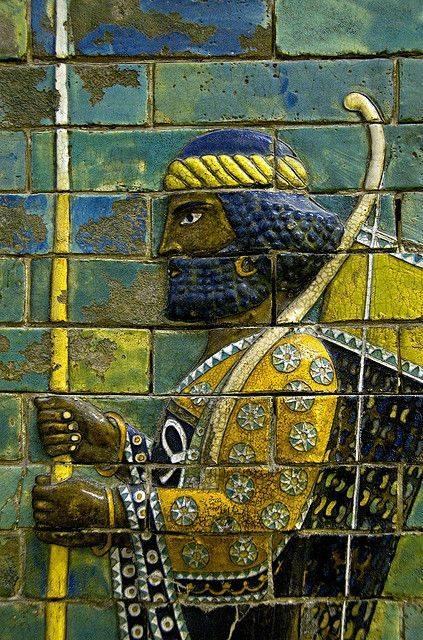 A small section of the Achaemenid Palaces of Darius I in Susa, Persia